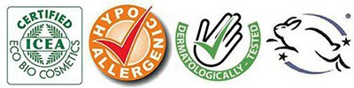 Bio minősített, hypoallergén, állatkísérletek mellőzésével kifejlesztett termék.